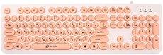 Клавиатура Oklick 400MR White/Pink USB