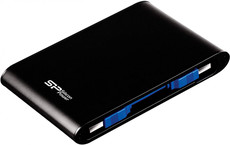 Внешний жесткий диск 1Tb Silicon Power Armor A80 Black (SP010TBPHDA80S3K)