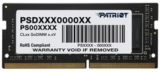 Оперативная память 4Gb DDR4 2666MHz Patriot Signature SO-DIMM (PSD44G266681S)