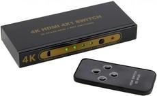 Переключатель HDMI Telecom 4x HDMI - 1x HDMI (TTS7100)