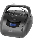 Аудиомагнитола Supra BB-24MUS Black