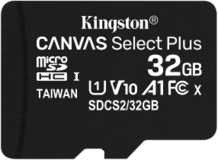 Карта памяти 32Gb MicroSD Kingston Canvas Select Plus Class 10 (SDCS2/32GBSP)