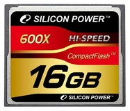 Карта памяти 16Gb Silicon Power 600x (SP016GBCFC600V10)