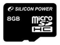 Карта памяти 8Gb MicroSD Silicon Power Class 10 (SP008GBSTH010V10)
