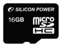 Карта памяти 16Gb MicroSD Silicon Power Class 10 (SP016GBSTH010V10)