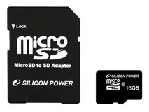 Карта памяти 16Gb MicroSD Silicon Power Class 10 + adapter (SP016GBSTH010V10-SP)