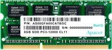 Оперативная память 8Gb DDR-III 1600MHz Apacer SO-DIMM 1.5v (AS08GFA60CATBGC)