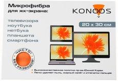 Konoos KT-1 салфетка из микрофибры для ЖК-экрана, 20х30 см