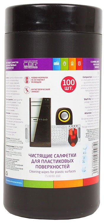 CBR CS 0030-100 чистящие салфетки для пластиковых поверхностей, 100шт