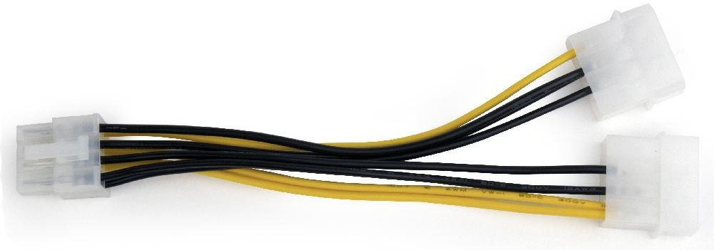 Кабель питания для видеокарт Gembird 8-pin PCI-E - 2xMOLEX (CC-PSU-81)