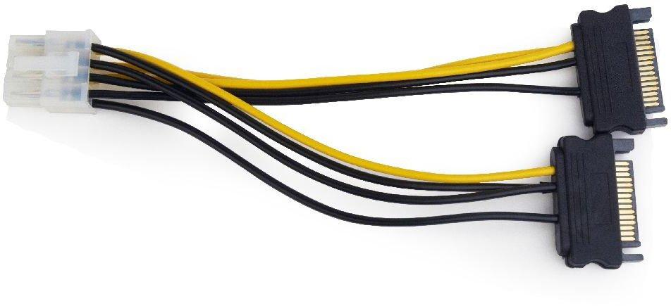 Кабель питания для видеокарт Gembird 8-pin PCI-E - 2xSATA (CC-PSU-83)