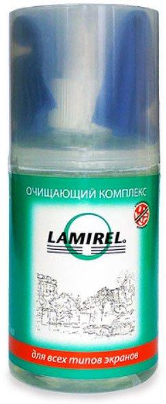 Fellowes LA-92002 Lamirel антибактериальный очищающий комплекс для экранов 200 мл. с салфеткой