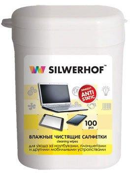Silwerhof Notebook Clean чистящие салфетки влажные, для ноутбуков/планшетов, 100 шт