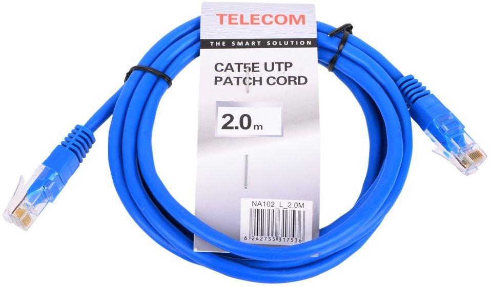 Патч-корд Telecom UTP 5e, 2м