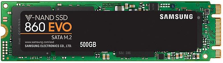 Твердотельный накопитель 500Gb SSD Samsung 860 EVO Series (MZ-N6E500BW)