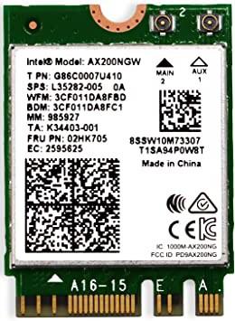 Wi-Fi адаптер Intel AX200.NGWG.NV
