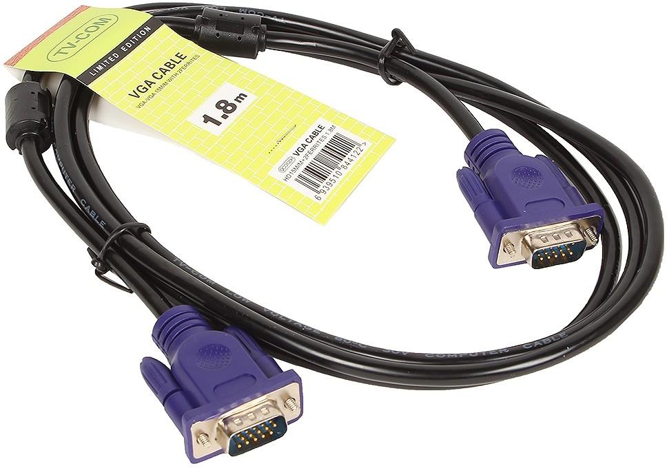 Кабель TV-COM VGA (M) - VGA (M), 1.8м (QCG341AD-1.8M)