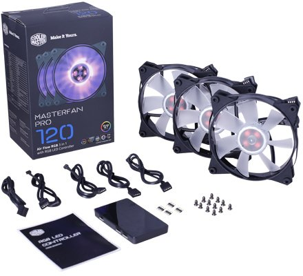 Вентилятор для корпуса Cooler Master MasterFan Pro 120 Air Flow RGB 3 in 1 (MFY-F2DC-113PC-R1)