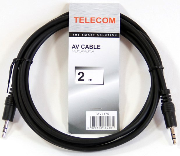Кабель Telecom 3.5 Jack (M) - 3.5 Jack (M), 2м (TAV7175-2M)