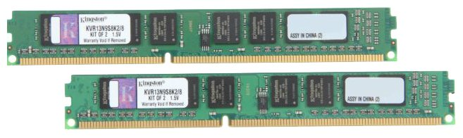 Оперативная память 8Gb DDR-III 1333MHz Kingston (KVR13N9S8K2/8) (2x4Gb KIT)